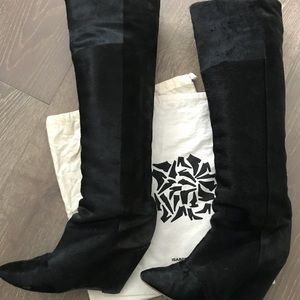 0ab365e8113 Isabel Marant Shoes - Isabel Marant Black Sheila Pony Boots Booties
